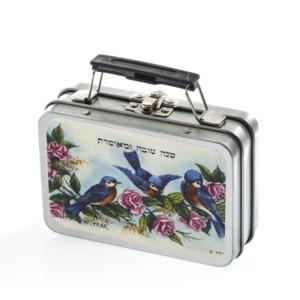 מיני מזוודה דגם ציפורים