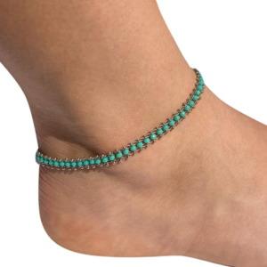 צמיד רגל טורקיז