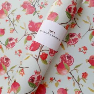 רנר פיויסי דגם רימונים בצבע מנטה