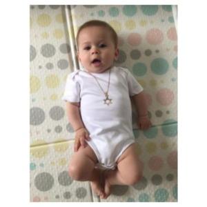 בגד גוף לתינוק – שרשרת דגם אלון